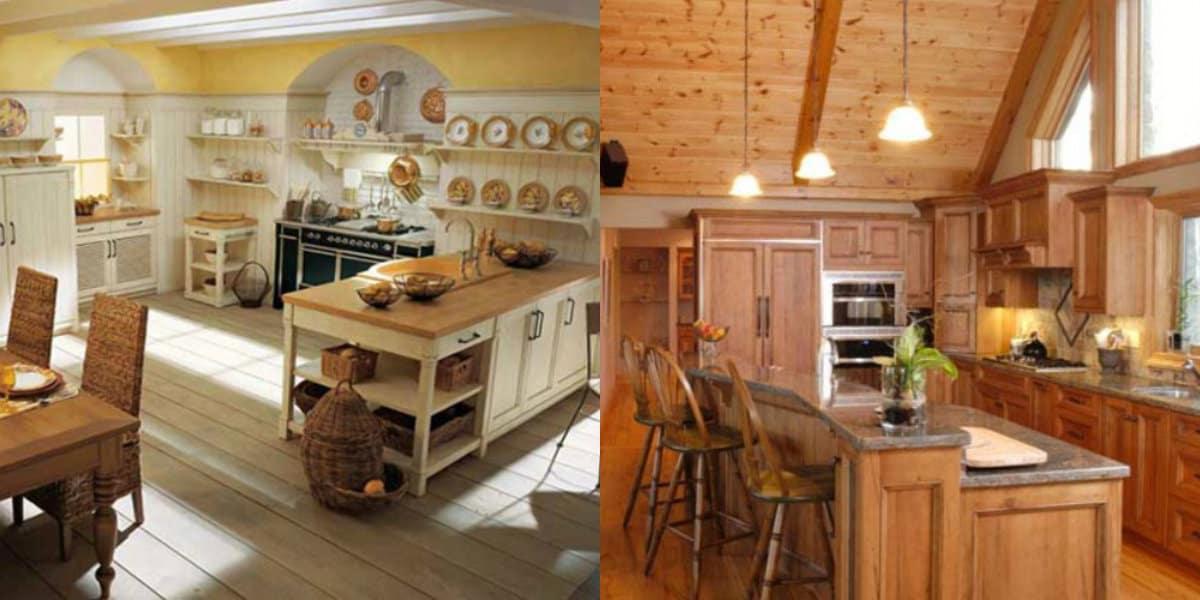 Кухня в деревенском стиле: отделка полов