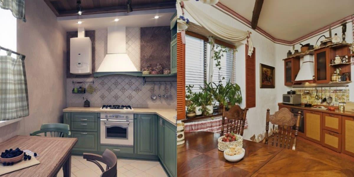 Кухня в деревенском стиле: дизайн мебели