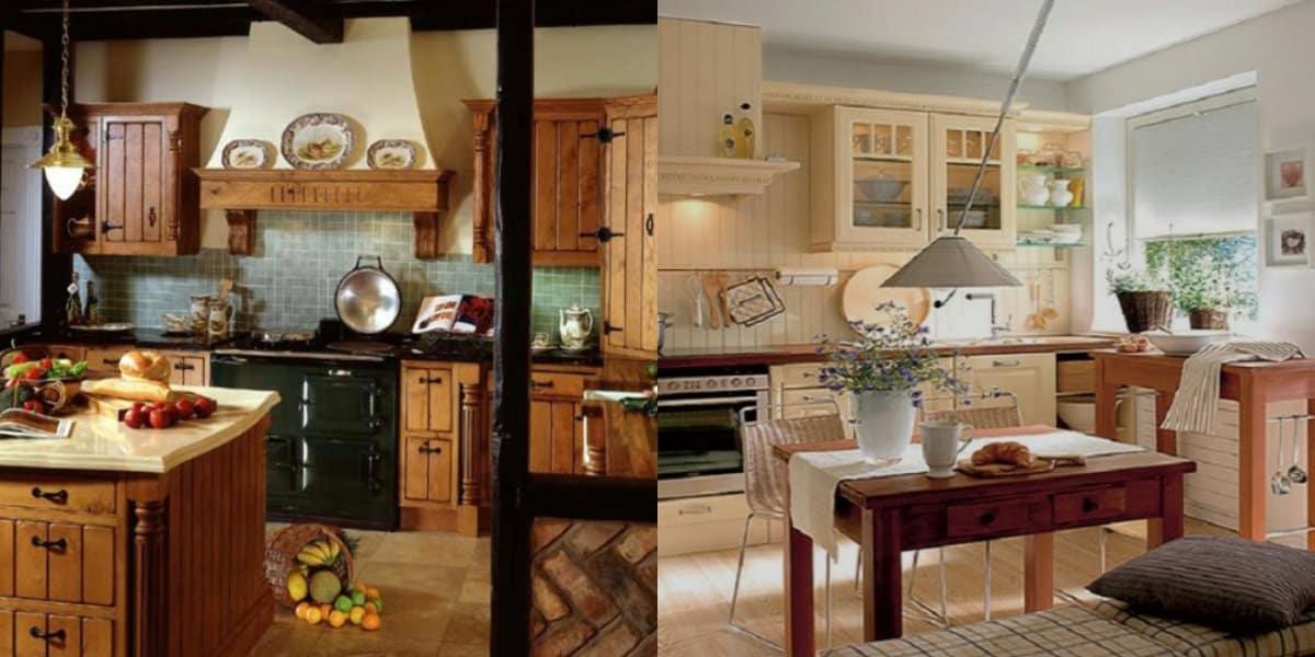 Кухня в деревенском стиле: отделка