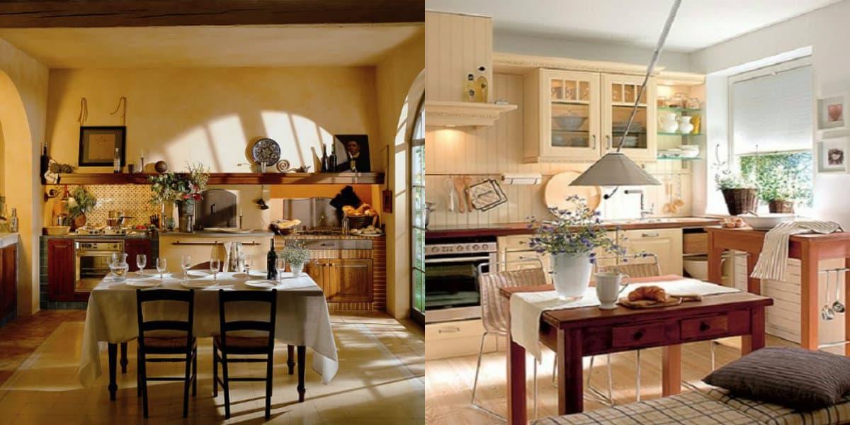 Кухня в деревенском стиле: разнообразие вариантов