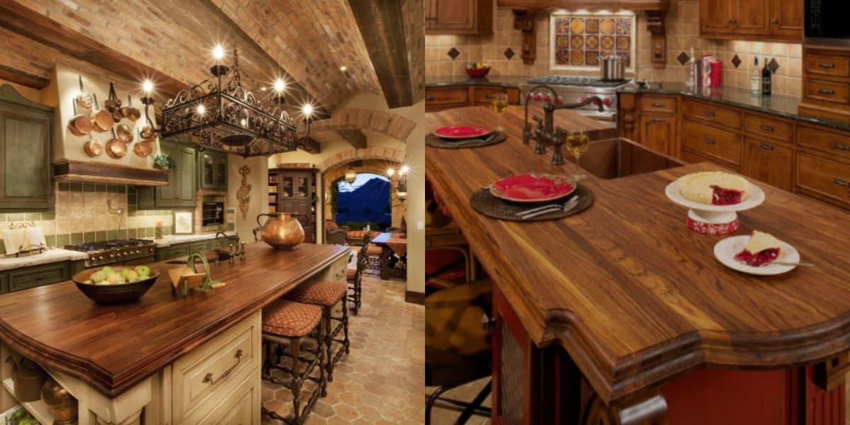 Кухня в итальянском стиле: деревянные столешницы