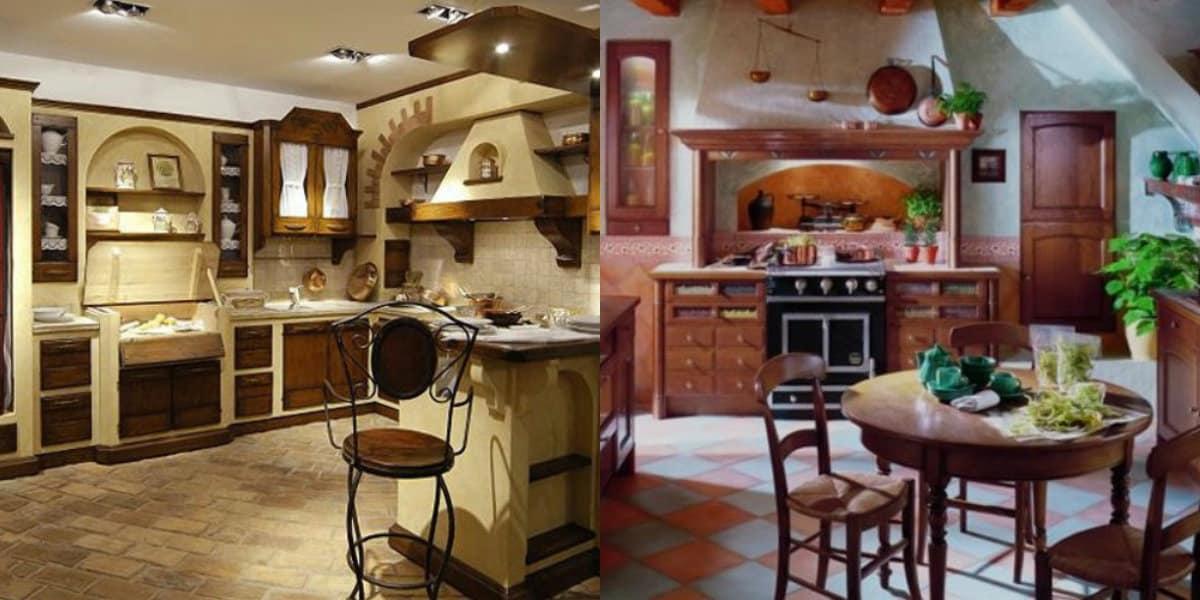 Кухня в итальянском стиле: стол и стулья