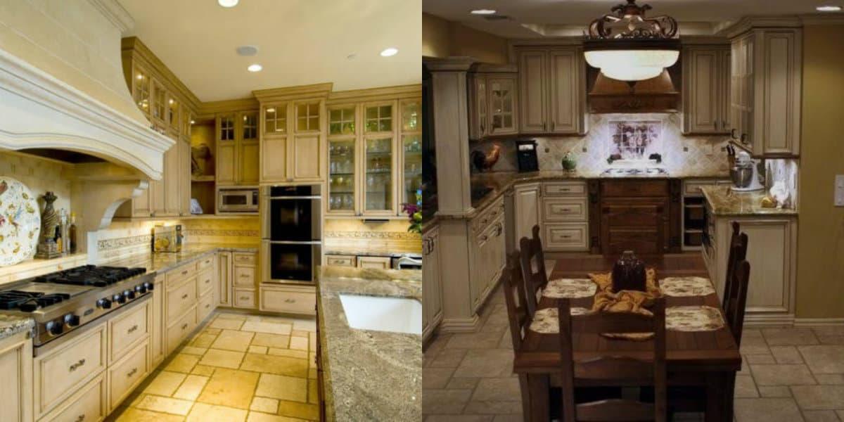 Кухня в итальянском стиле: плитка на полу