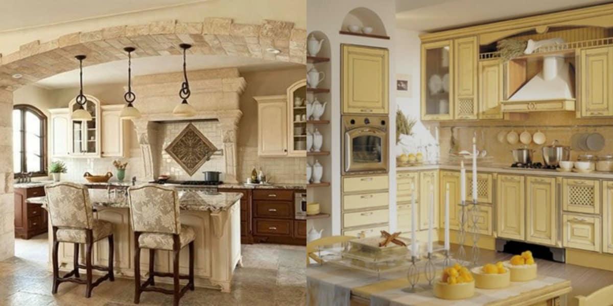 Кухня в итальянском стиле: светлый интерьер