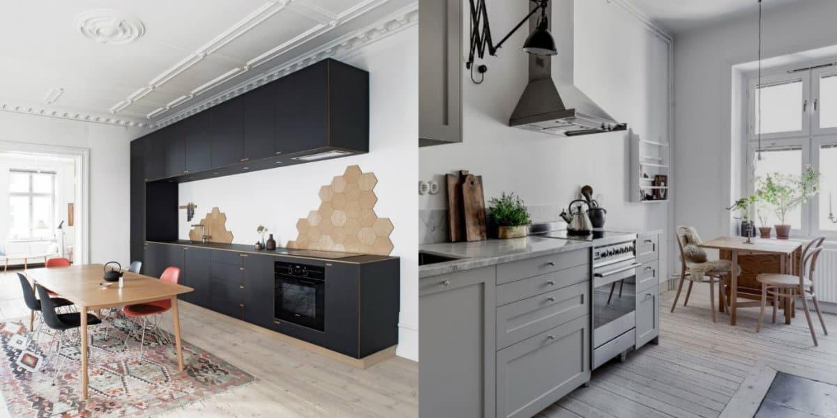 Кухня в скандинавском стиле: системы хранения