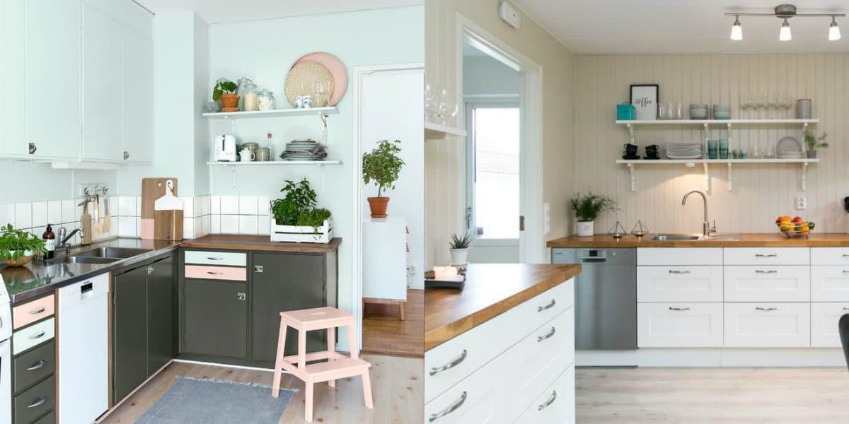 Кухня в скандинавском стиле: пастельные цвета