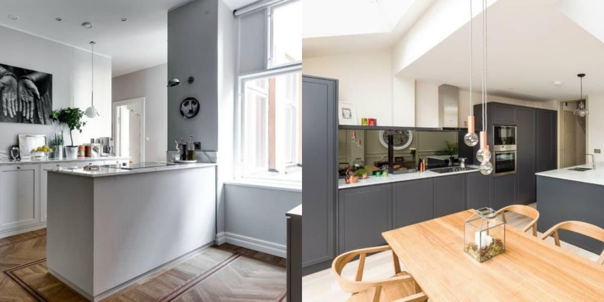 Кухня в скандинавском стиле: светильники