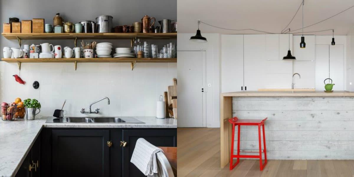 Кухня в скандинавском стиле: в деревенском исполнении