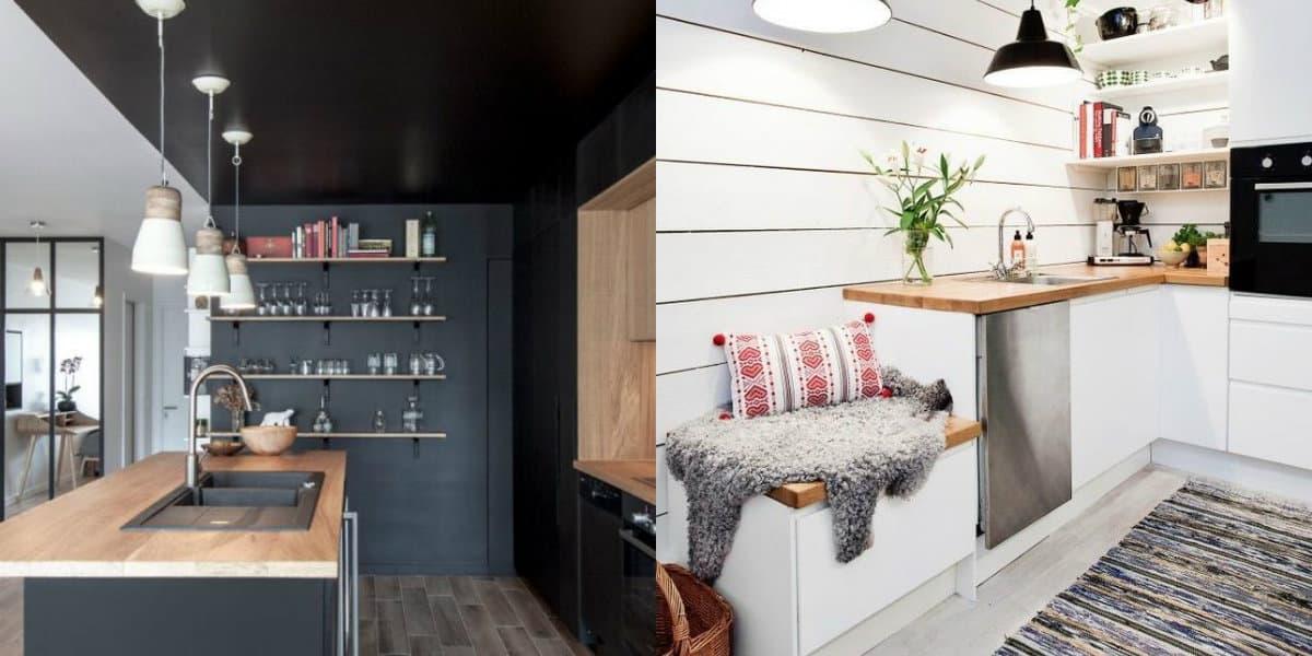 Кухня в скандинавском стиле: рабочие поверхности