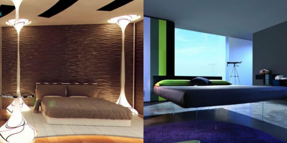 спальня в современном стиле: свет