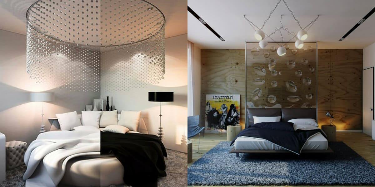 спальня в современном стиле: балдахин
