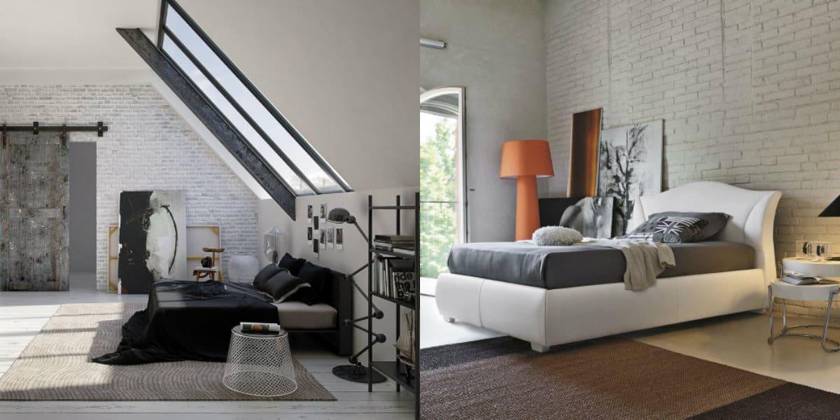 спальня в современном стиле: уютный лофт