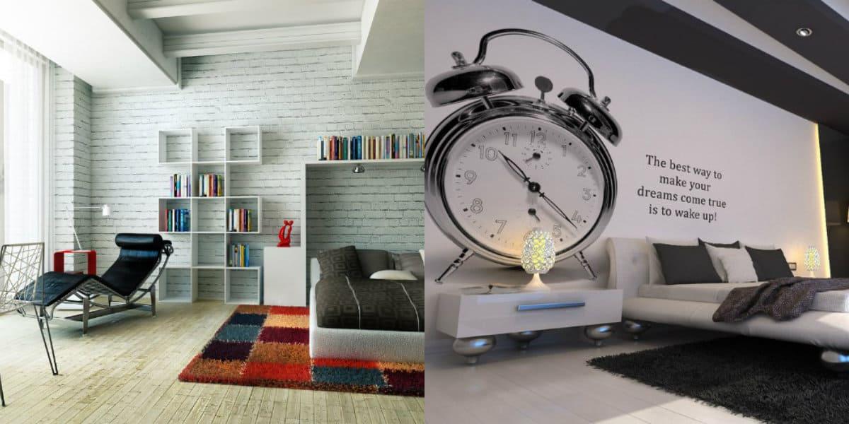 спальня в современном стиле: фотообои