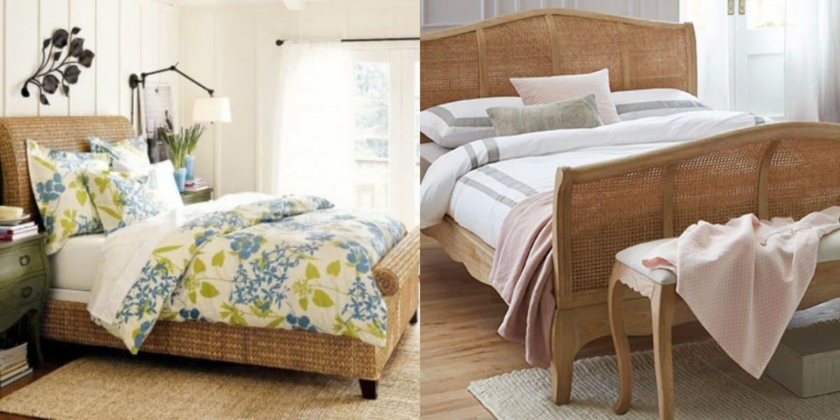 спальня в современном стиле: ротанг