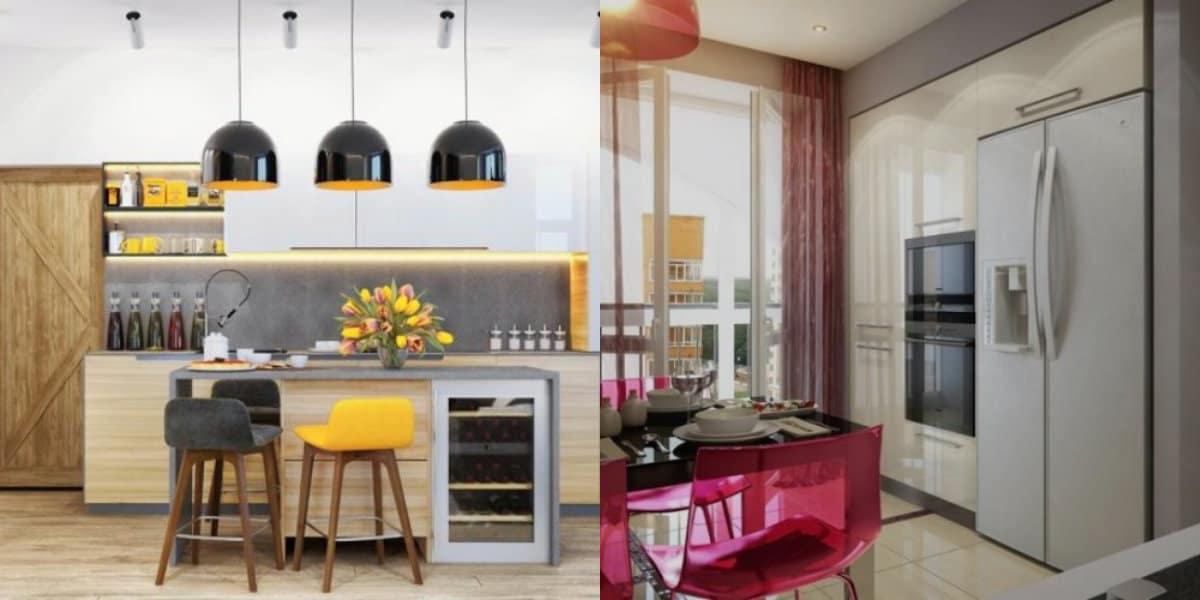 Цвета кухни 2018: яркие акценты