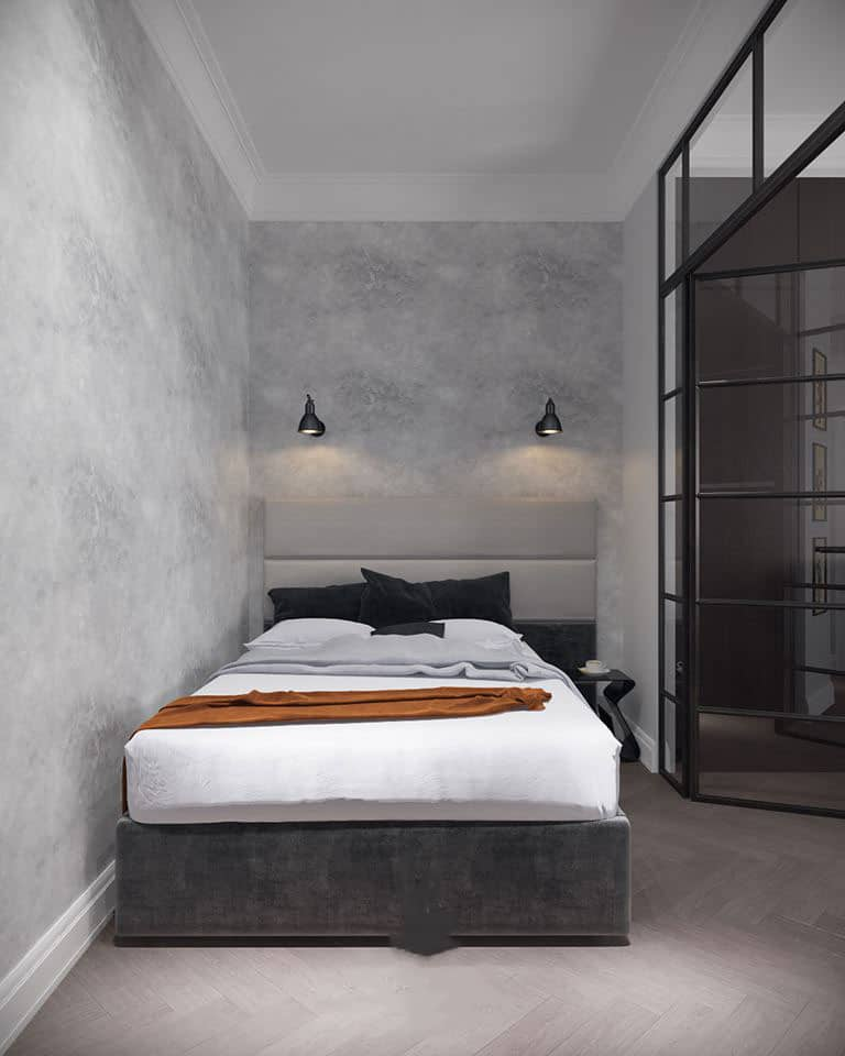 черно-белая-спальня Черно белая спальня фото