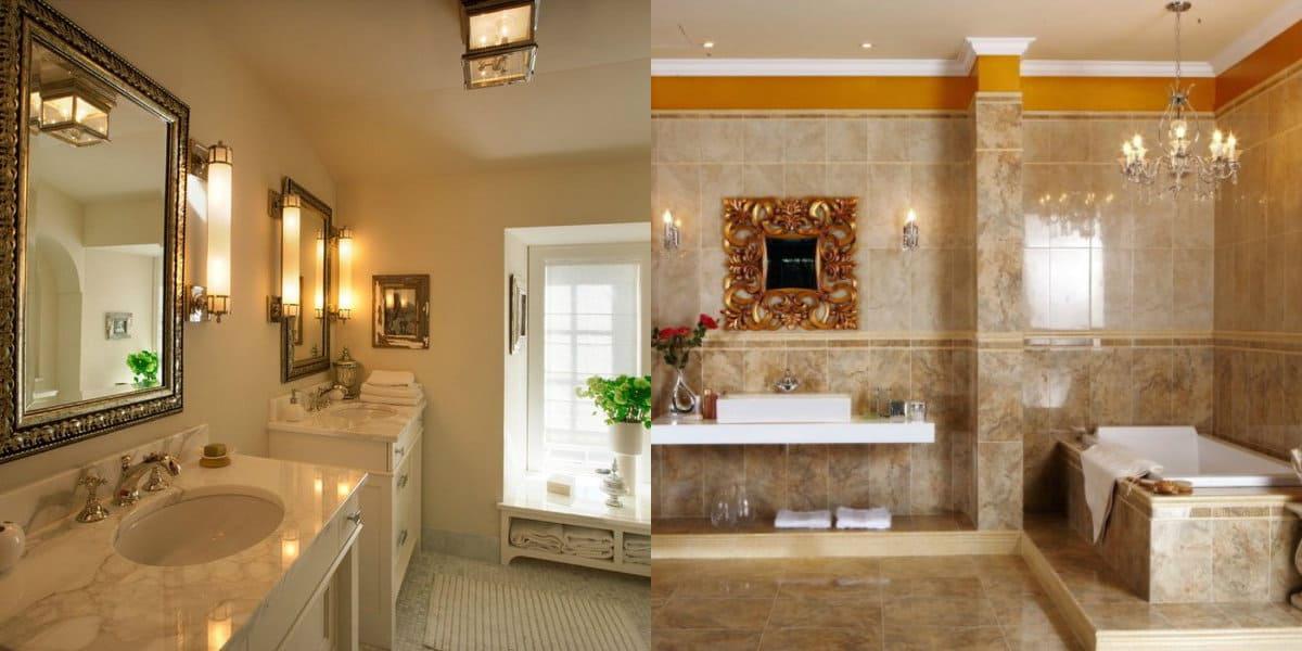 Ванная в итальянском стиле: мрамор