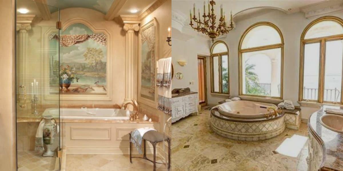 Ванная в итальянском стиле: роспись