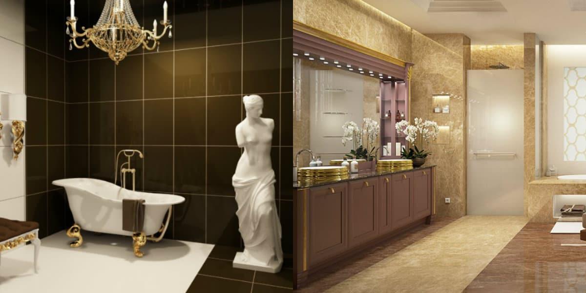 Ванная в итальянском стиле: статуя