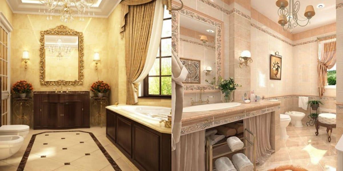 Ванная в итальянском стиле: окно