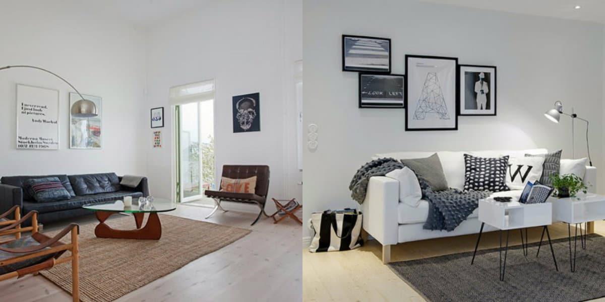 Гостиная в скандинавском стиле: мебель