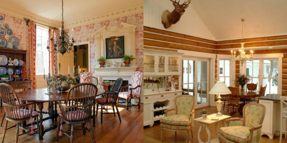 Гостиная в стиле Кантри: дворянский Прованс