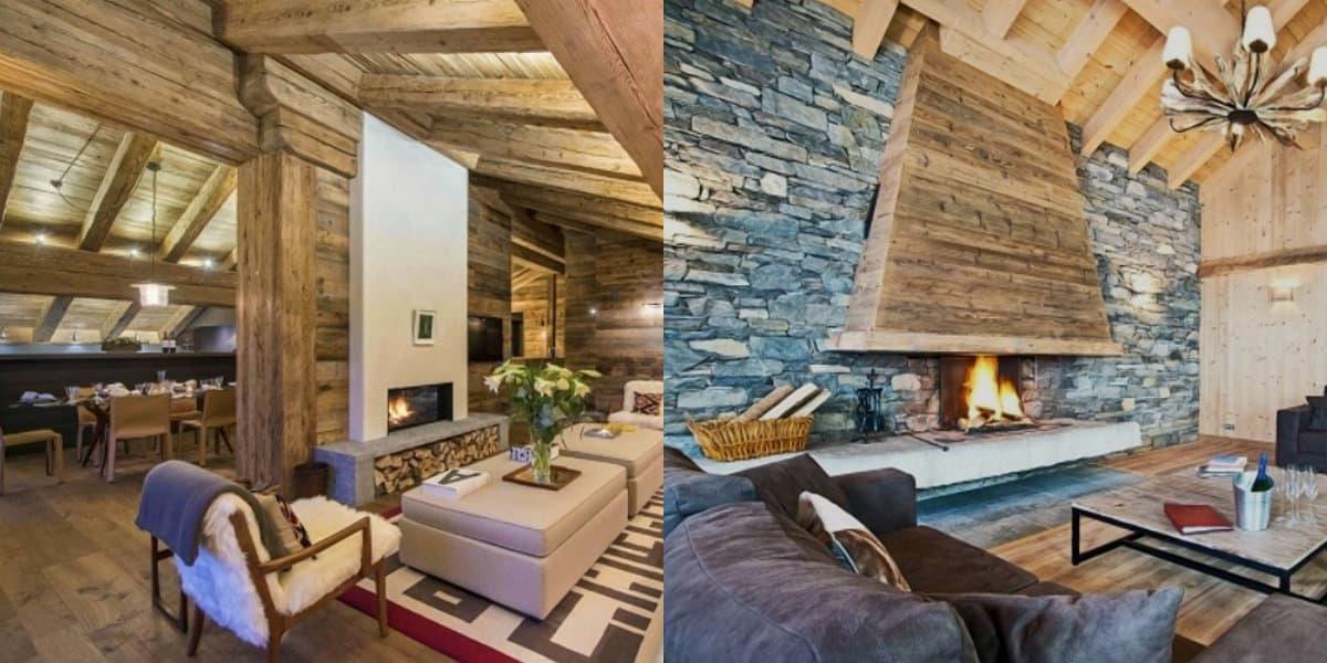 Гостиная в стиле Кантри: альпийский интерьер
