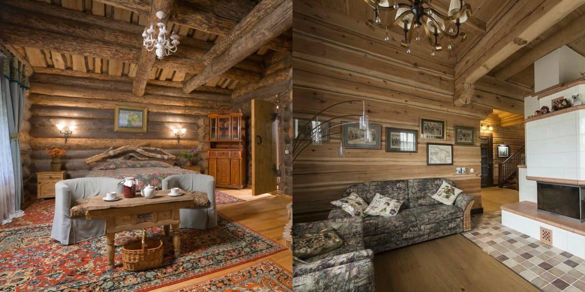 Гостиная в стиле Кантри: русская гостиная