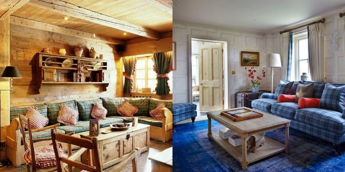 Гостиная в стиле Кантри: деревенское оформление