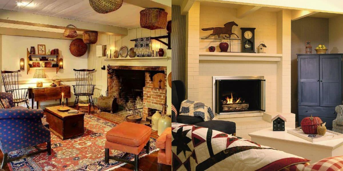 Гостиная в стиле Кантри: американский дизайн