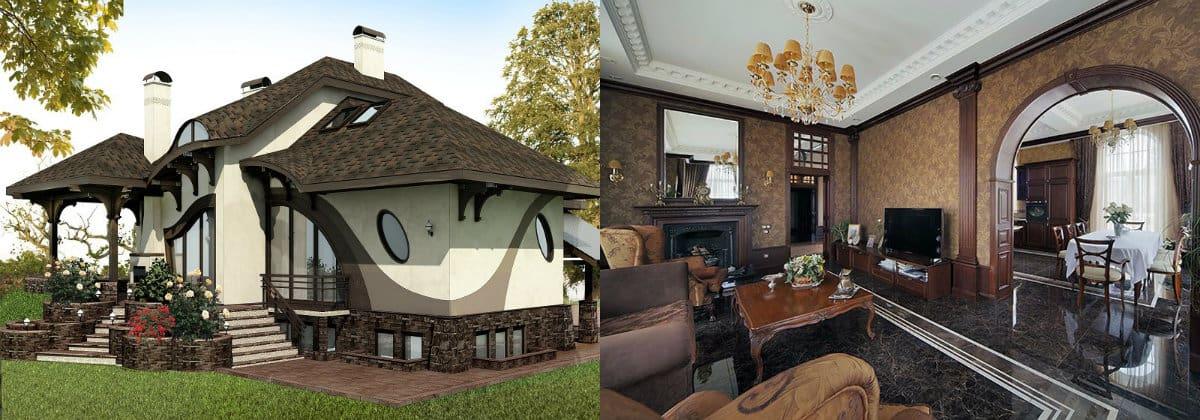 Дом в стиле Модерн: изогнутые формы