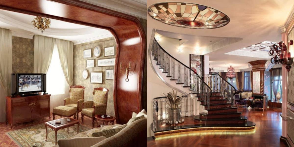 Дом в стиле Модерн: оформление лестниц