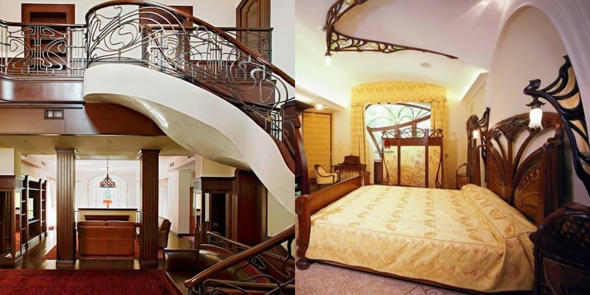Дом в стиле Модерн: декор