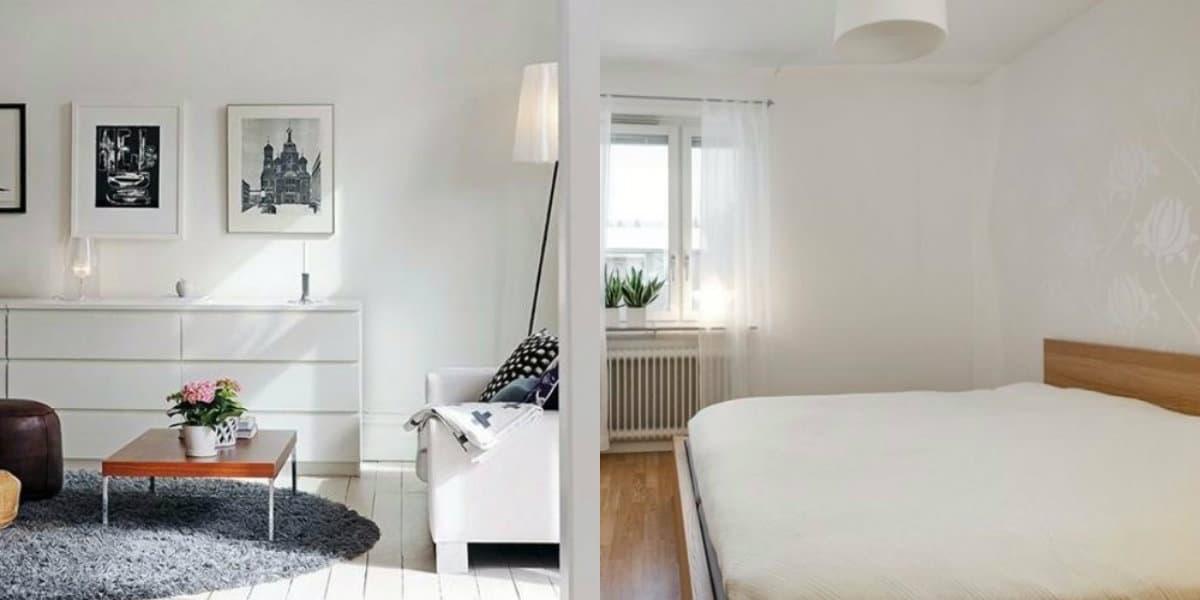 Интерьер в скандинавском стиле: белый дизайн