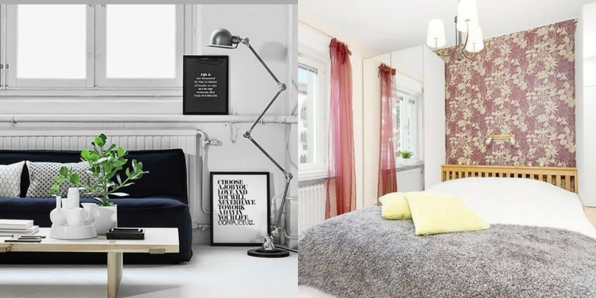 Интерьер в скандинавском стиле: спальня