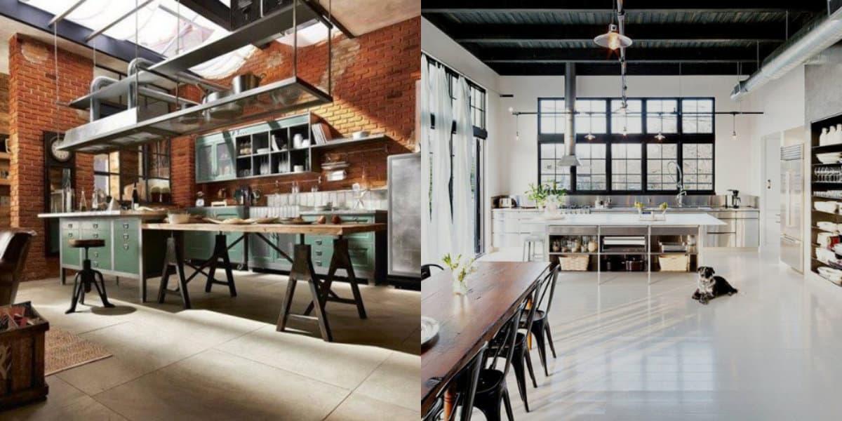Интерьер в стиле Лофт: кухня
