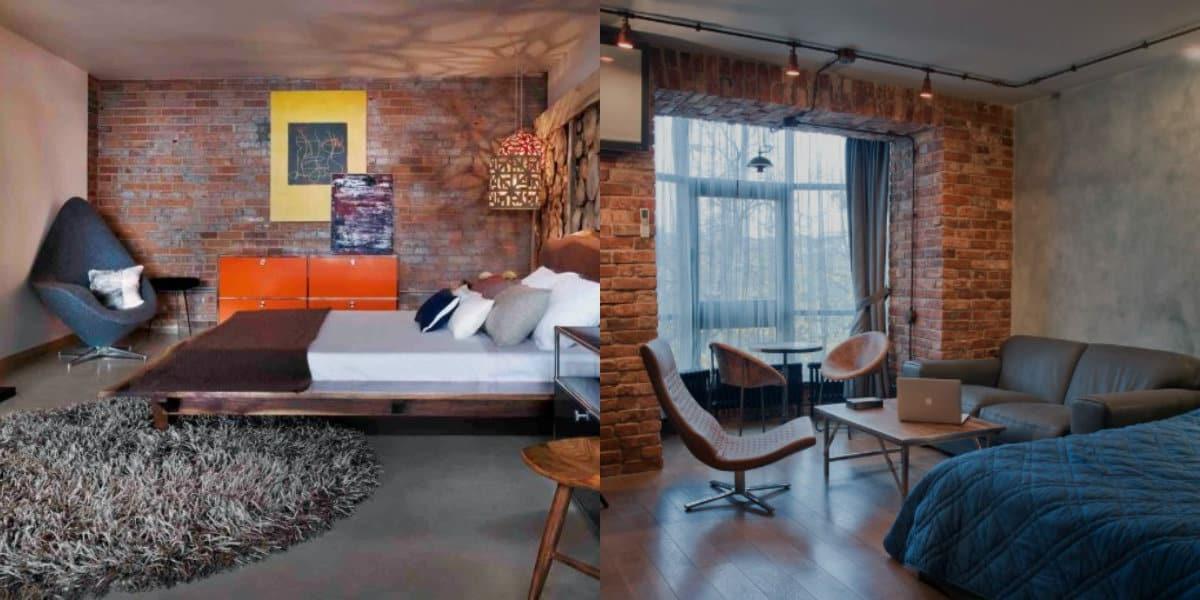 Интерьер в стиле Лофт: гостиная