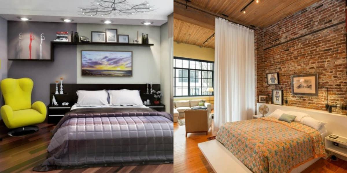 Интерьер в стиле Лофт: спальня
