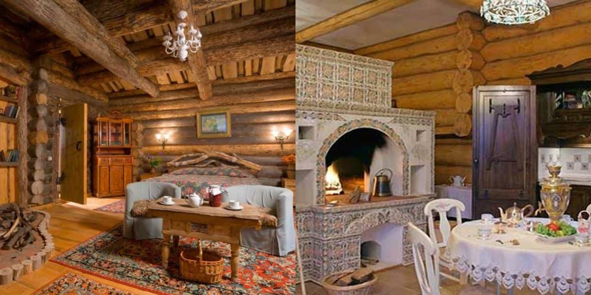 Интерьер деревенского дома: печь