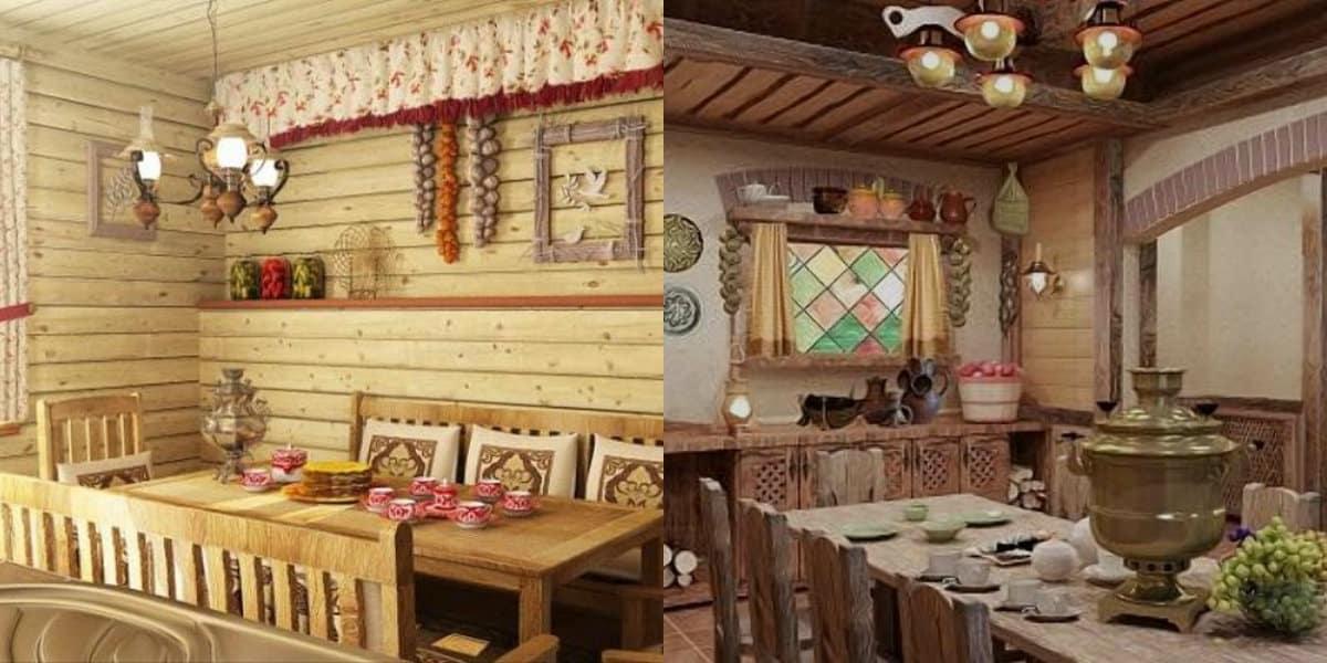 Интерьер деревенского дома: русский терем