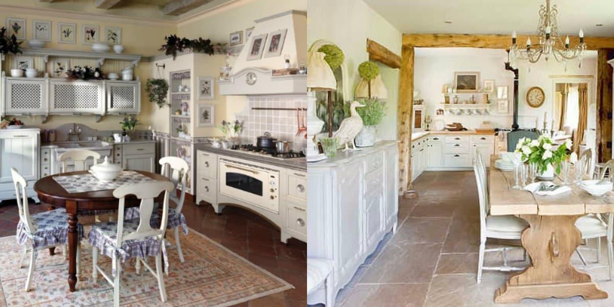 Интерьер деревенского дома: светлый интерьер