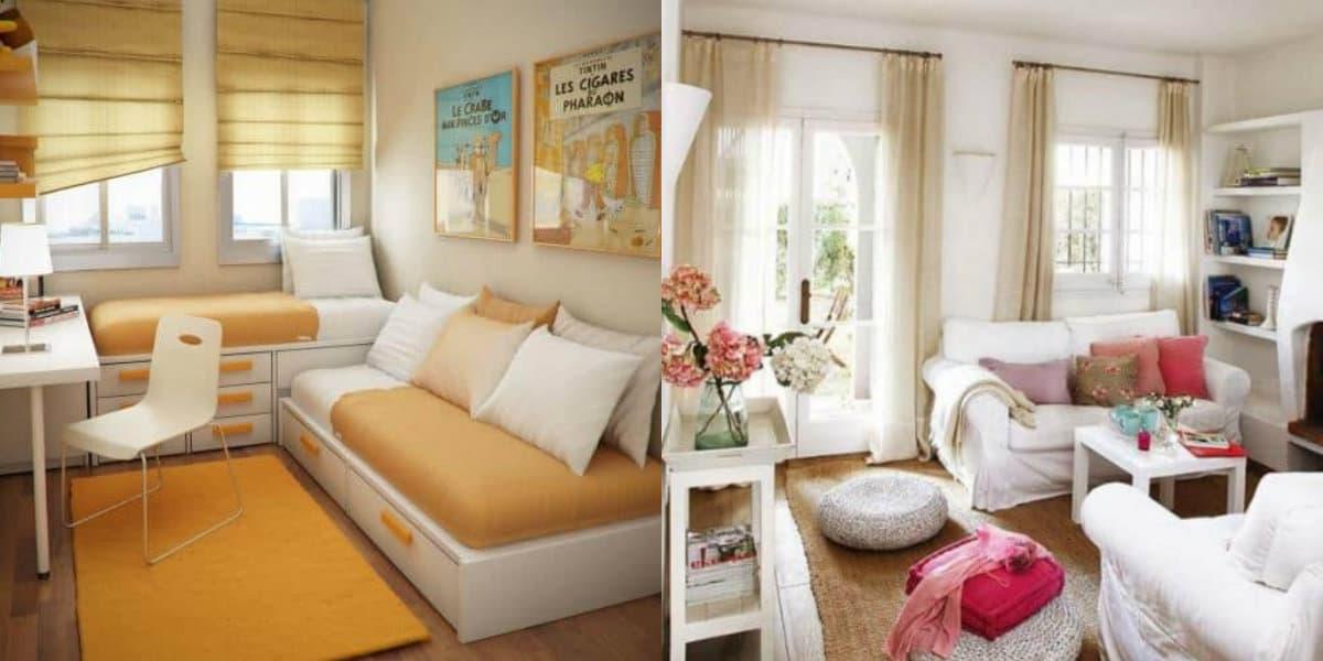 Интерьер маленькой комнаты: колористика