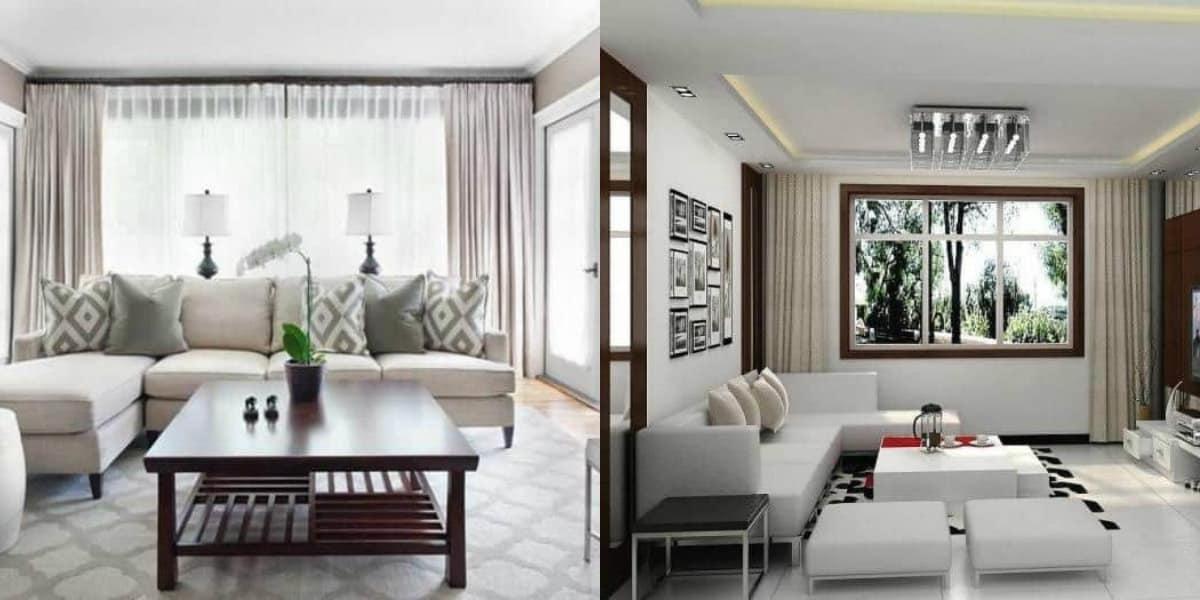 Интерьер маленькой комнаты: шторы