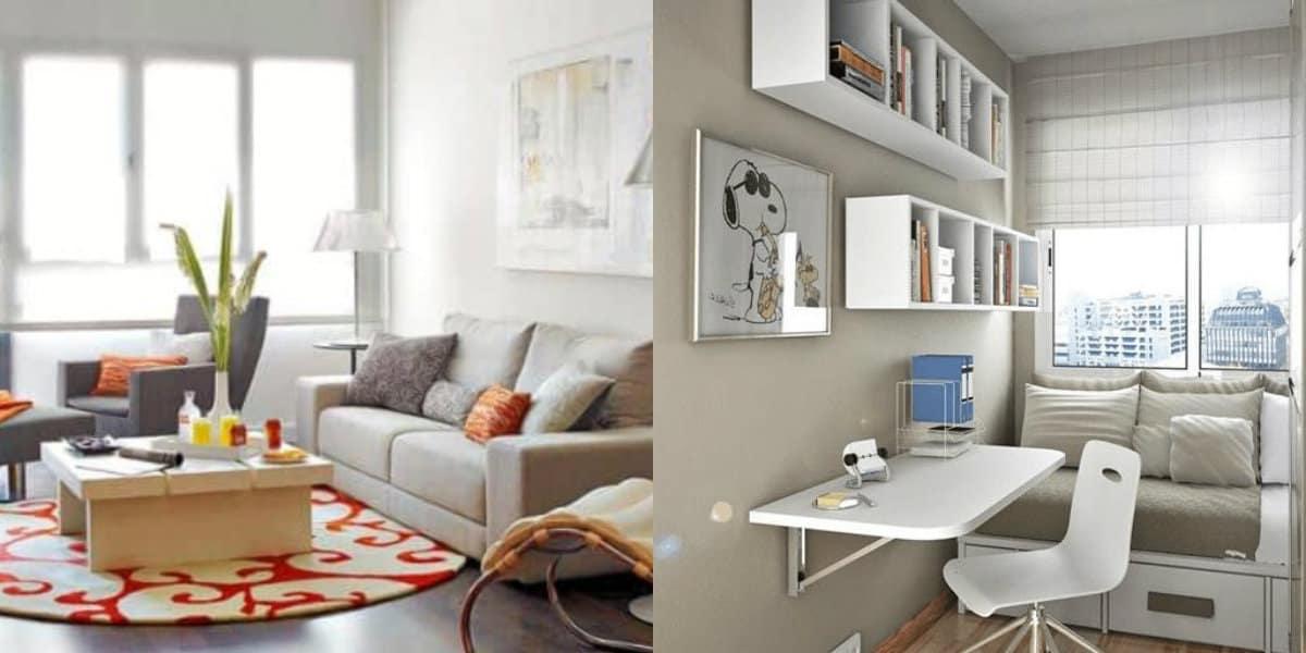 Интерьер маленькой комнаты: текстиль