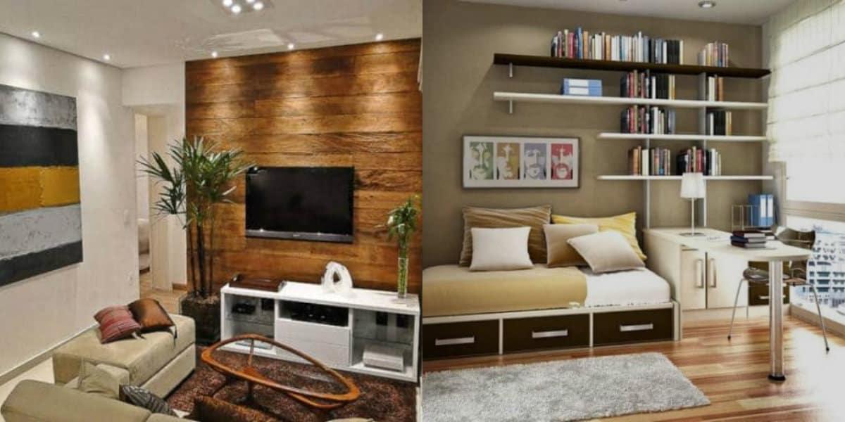 Интерьер маленькой комнаты: точечные светильники