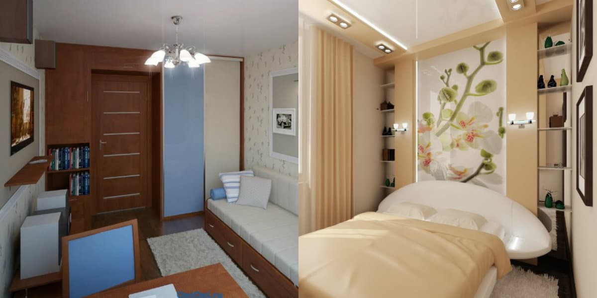 Интерьер маленькой комнаты: декор