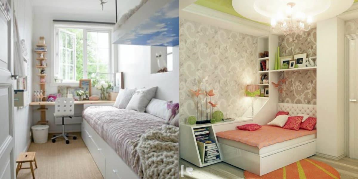 Интерьер маленькой комнаты: спальня