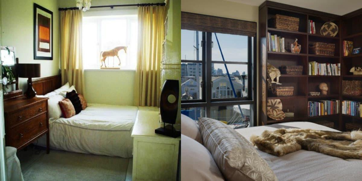 Интерьер маленькой комнаты: спальное место