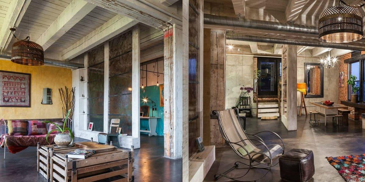 Квартира в стиле Лофт: винтажная мебель