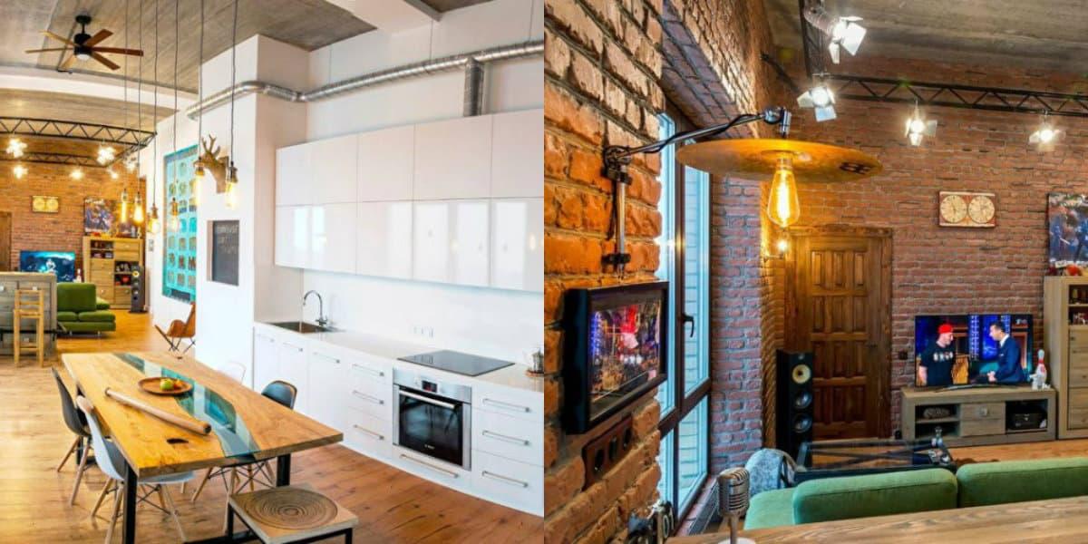 Квартира в стиле Лофт: кухня